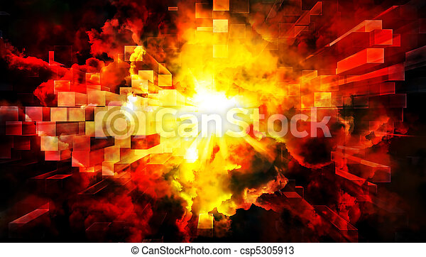 Abstract explosion - csp5305913