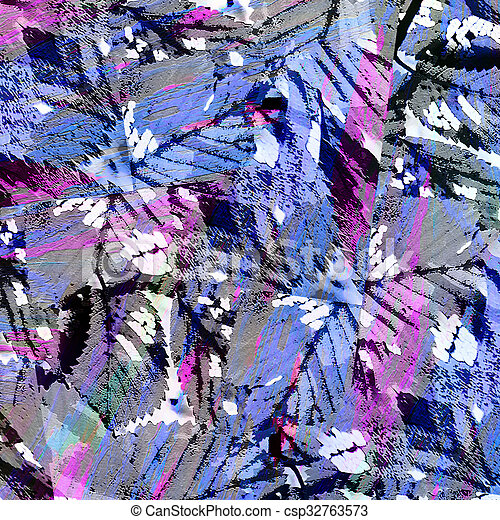 Abstract Expressionism Collage Background