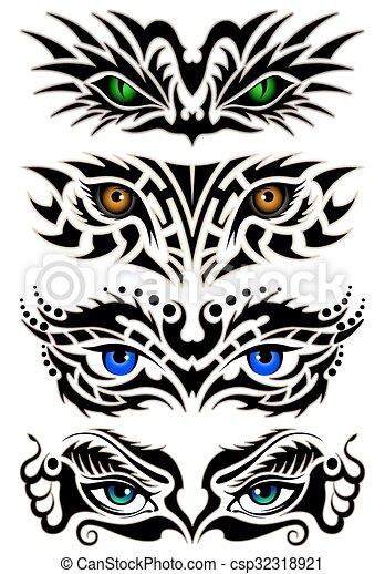 Abstract eyes - csp32318921