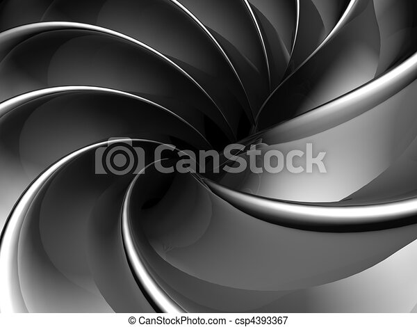 Abstract fan shape aluminum background - csp4393367