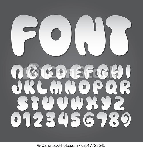 Abstract Fat Alphabet and Digit Vector - csp17723545