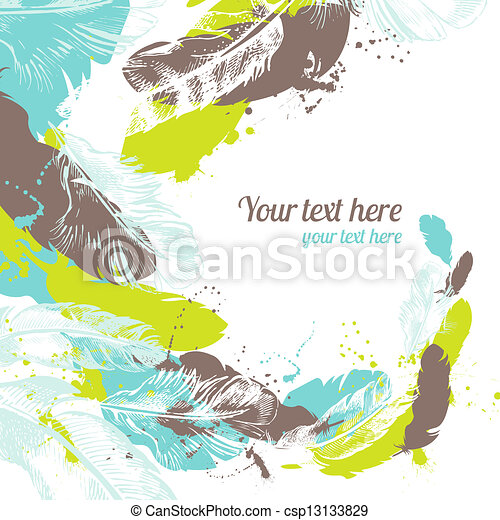 Abstract feather background  - csp13133829