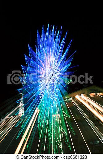 Abstract Ferris Wheel Blue Zoom - csp6681323