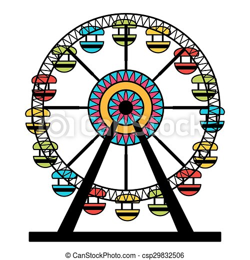 abstract ferris wheel icon an image of a colorful ferris vector rh canstockphoto com ferris wheel clipart black and white ferris wheel clip art free