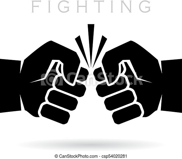 Abstract fighting vector icon isolated on white background ...