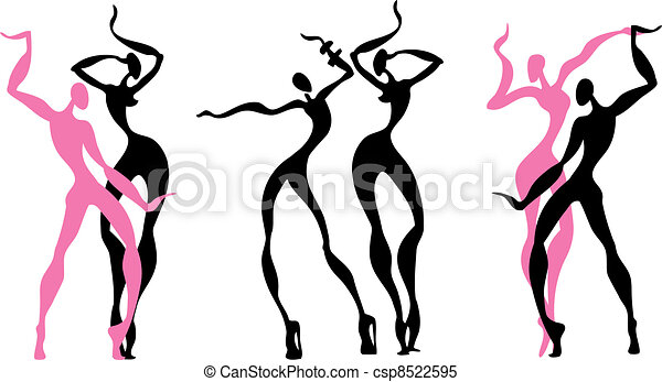 abstract, figuren, dancing - csp8522595
