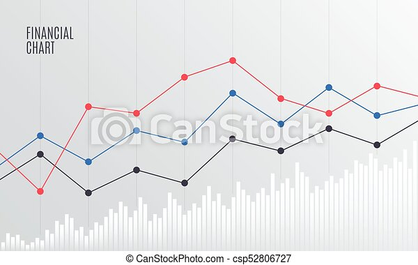Abstract Financial Chart with Line graph. - csp52806727
