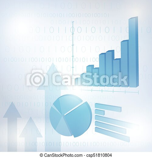 Abstract financial chart with uptrend line graph - csp51810804