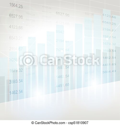 Abstract financial chart with uptrend line graph - csp51810907