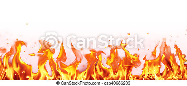 Abstract fire flames background - csp40686203