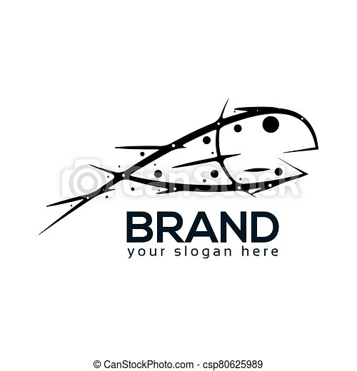 Abstract Fish Logo. flat design. Vector Illustration on white background - csp80625989