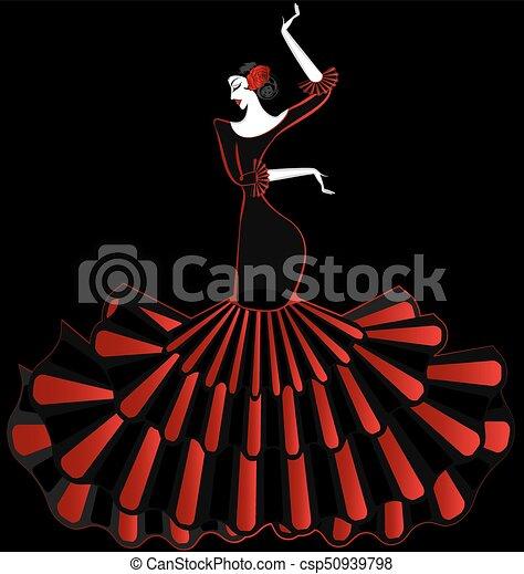 abstract flamenco dancer in the dark - csp50939798