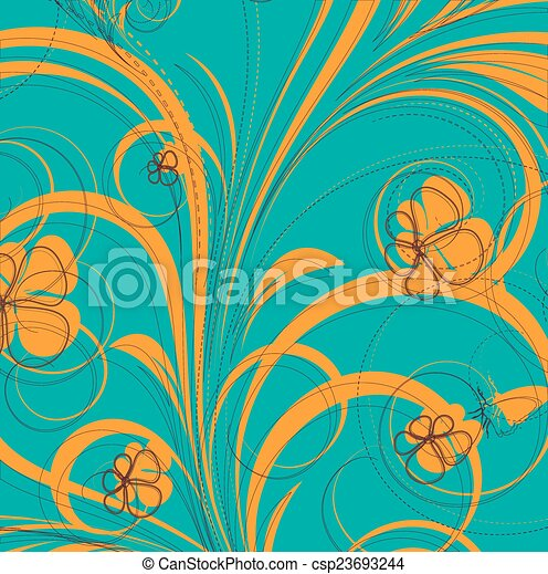 Abstract Flora Design Background - csp23693244
