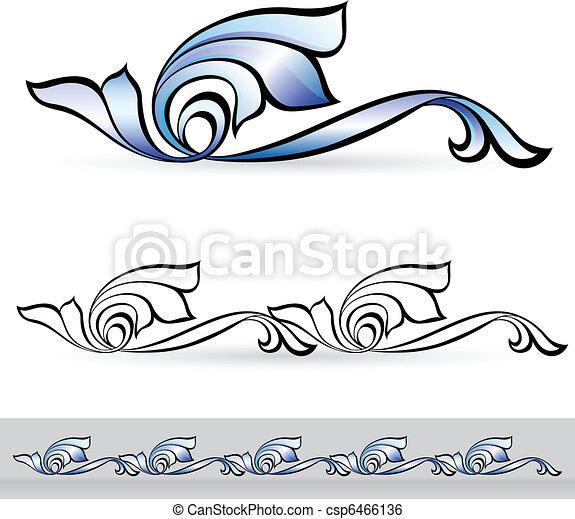 Abstract flora design element. - csp6466136