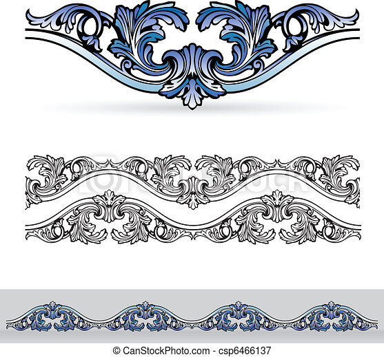 Abstract flora design element. - csp6466137