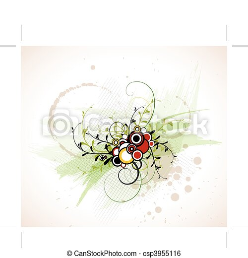 Abstract floral background - csp3955116
