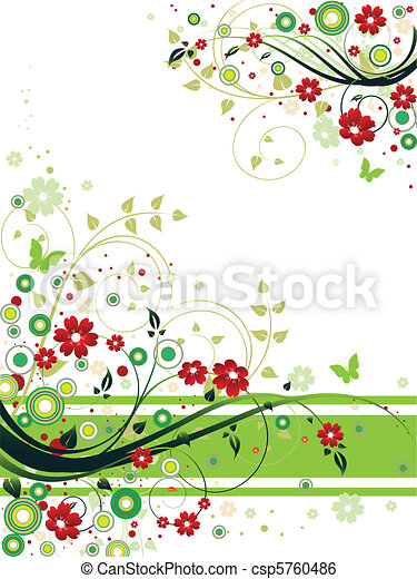 Abstract Floral Background - csp5760486
