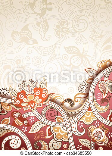 Abstract Floral Background - csp34685550