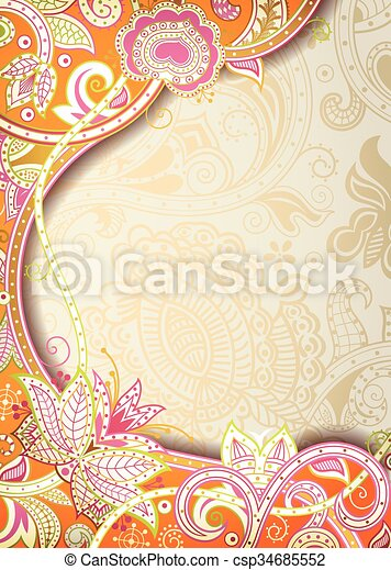 Abstract Floral Background - csp34685552