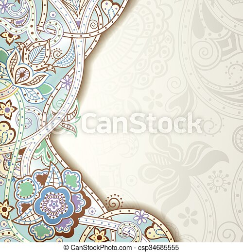 Abstract Floral Background - csp34685555
