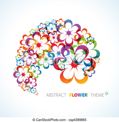 Abstract floral background - csp4389865