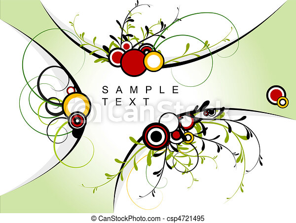 Abstract floral background - csp4721495
