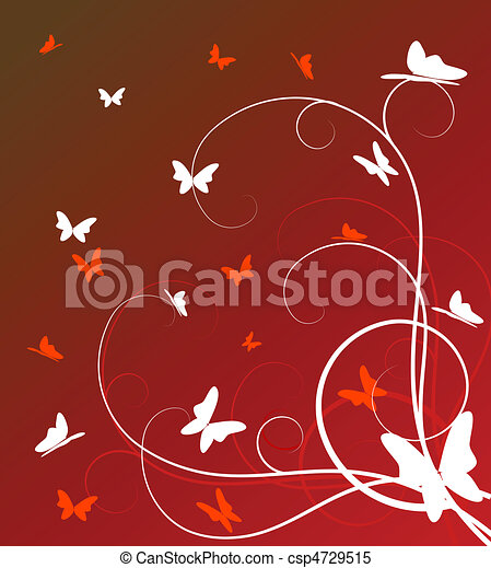 abstract floral background  - csp4729515