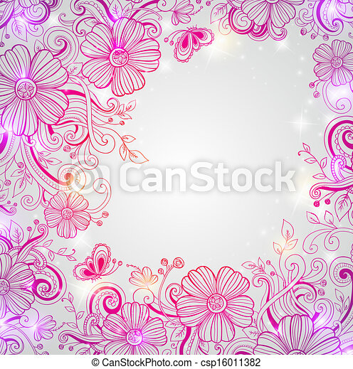 Abstract floral background - csp16011382
