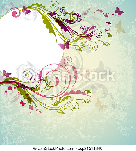 Abstract floral background - csp21511340
