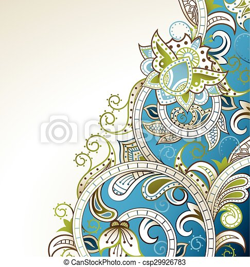 Abstract Floral Background - csp29926783