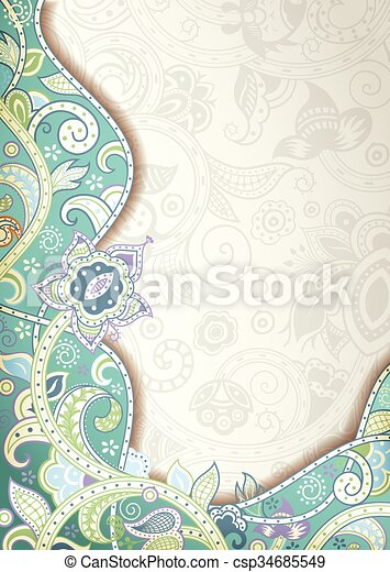 Abstract Floral Background - csp34685549