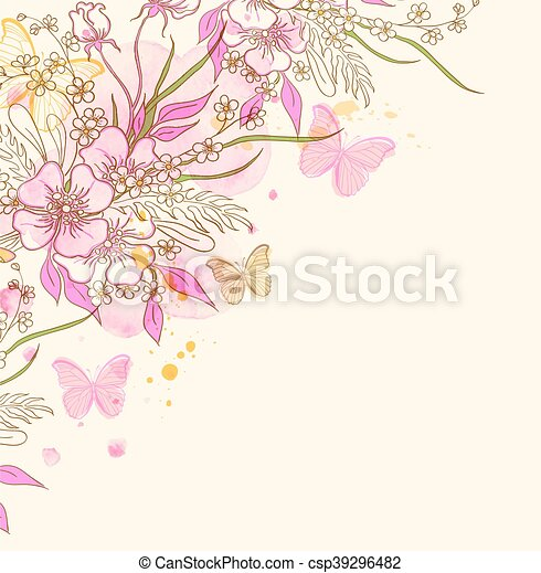 Abstract floral background - csp39296482