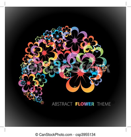 Abstract floral background - csp3955134