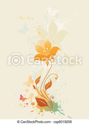 abstract floral background - csp6019208