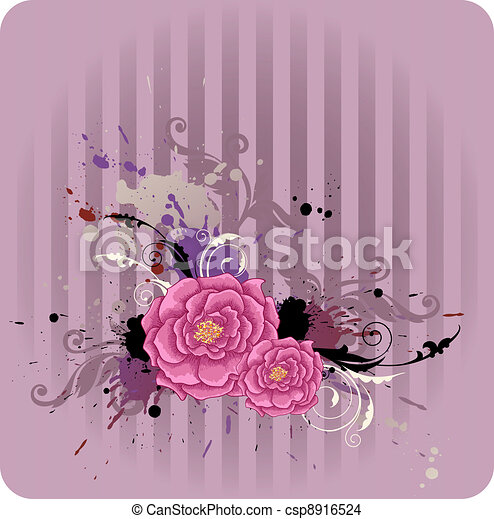 Abstract floral background - csp8916524