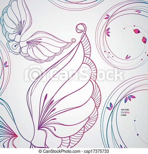 abstract floral background. - csp17375733