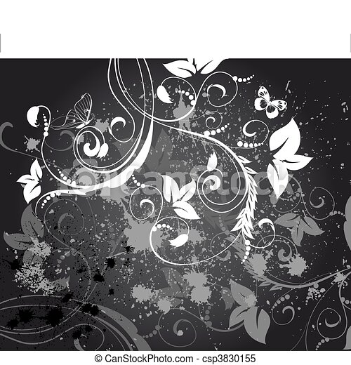 abstract floral background grunge - csp3830155