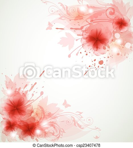 Abstract floral background - csp23407478