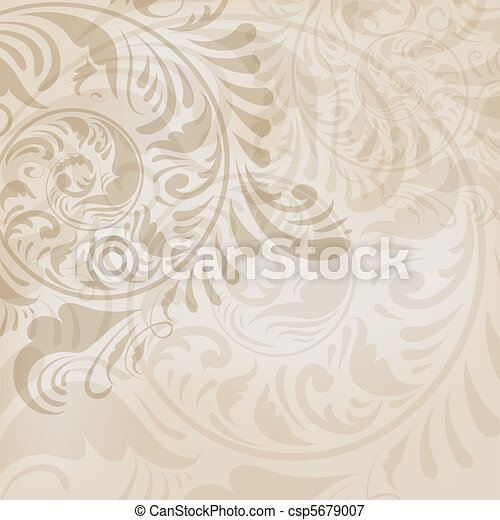 ABSTRACT FLORAL BACKGROUND - csp5679007