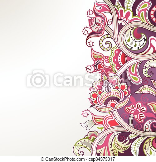 Abstract Floral Background - csp34373017