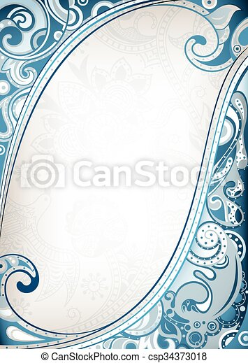 Abstract Floral Background - csp34373018