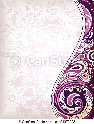 Abstract Floral Background - csp34373008