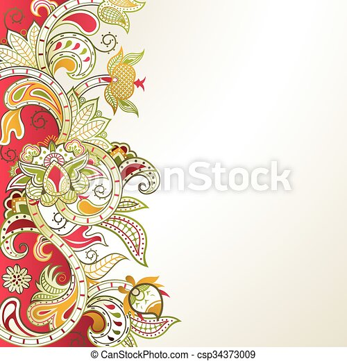 Abstract Floral Background - csp34373009