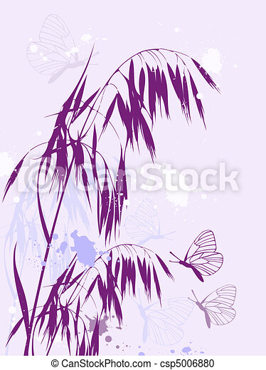 abstract floral background - csp5006880