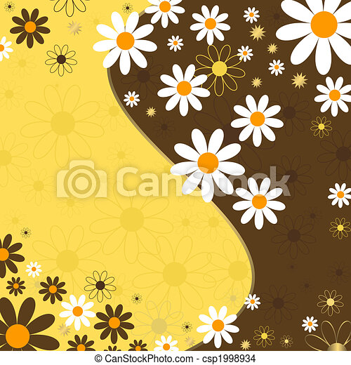 Abstract floral background (vector) - csp1998934