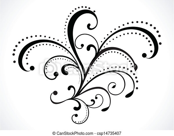 abstract floral background vector  - csp14735407