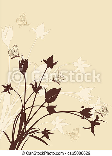 abstract floral background with tulips - csp5006629