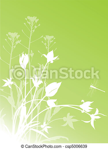 abstract floral background with tulips - csp5006639