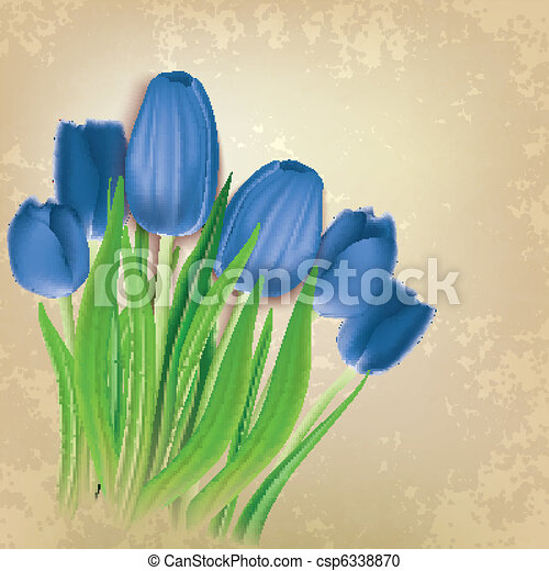 abstract floral background with tulips - csp6338870