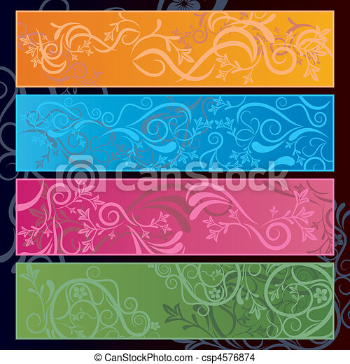 Abstract floral banner - csp4576874